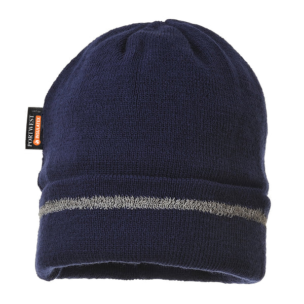 Portwest B023 Reflective Trim Knit Hat Insulatex Line