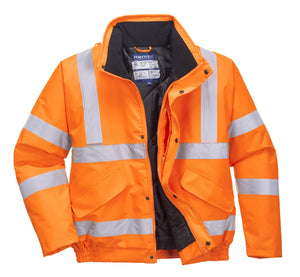 URT32 High Visibility Winter Jacket, Orange – Portwest