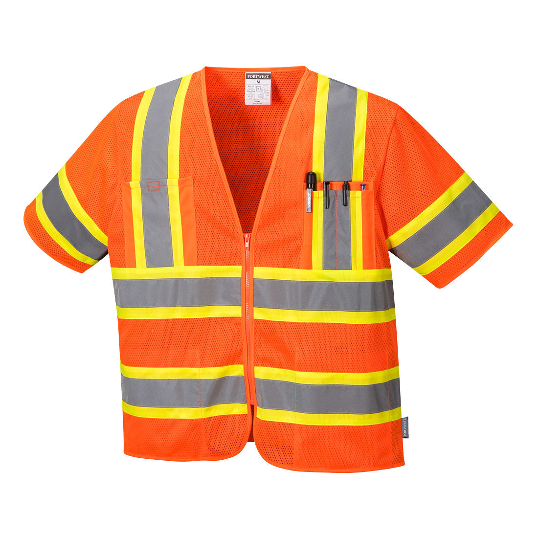 Portwest US383 Augusta Sleeved Hi-Vis Vest