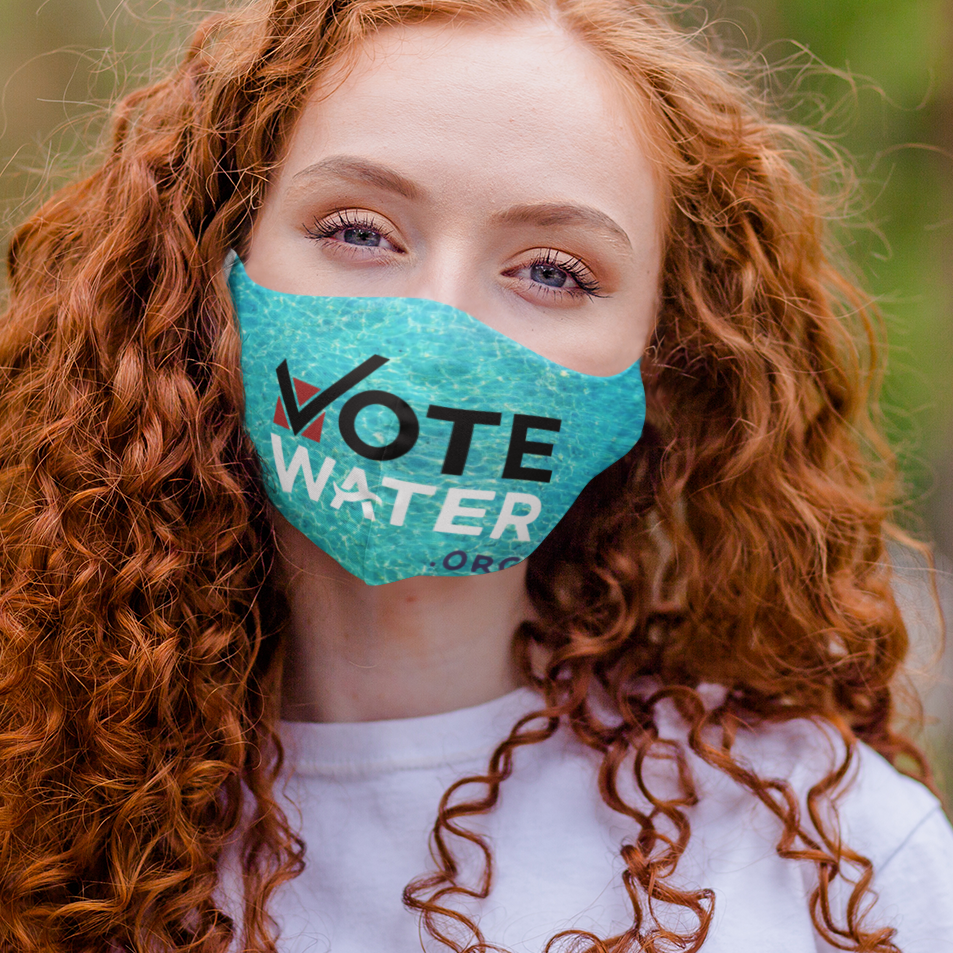 Vote Water with Text  Mask