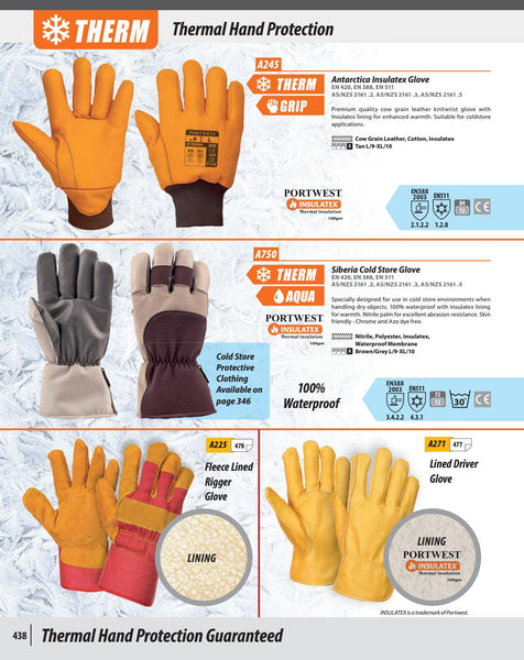 Portwest Fleece Lined Rigger Glove A225