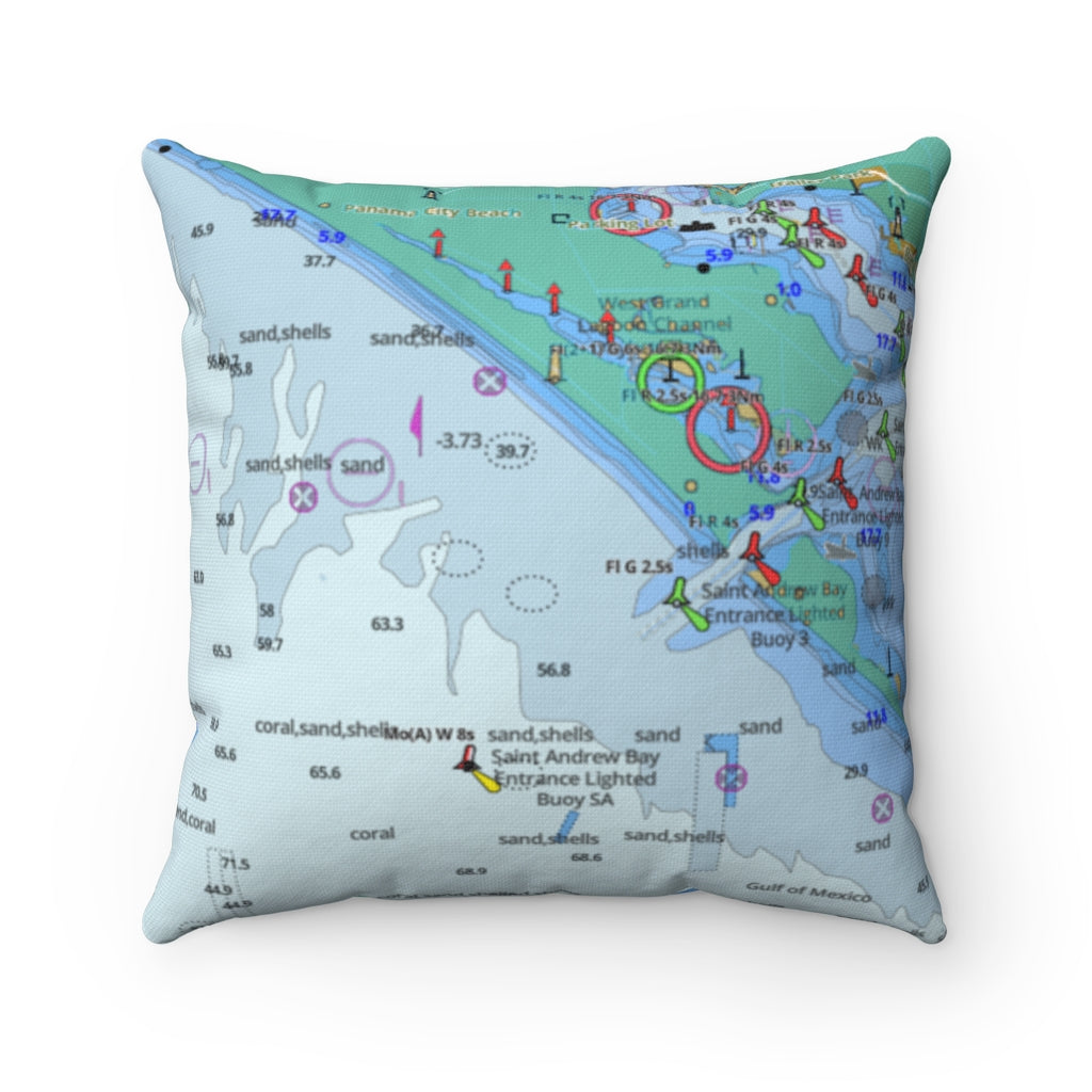 Panama City  Square Pillow