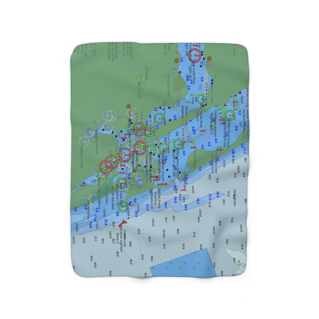 Saint Lucie Sherpa Fleece Blanket
