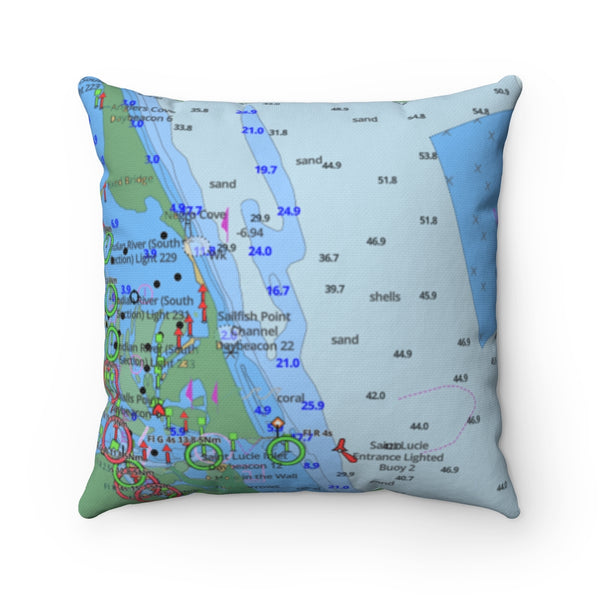 Saint Lucie  Square Pillow
