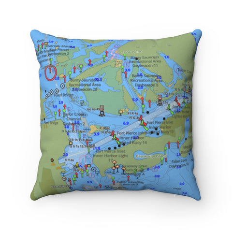 Fort Pierce Square Pillow