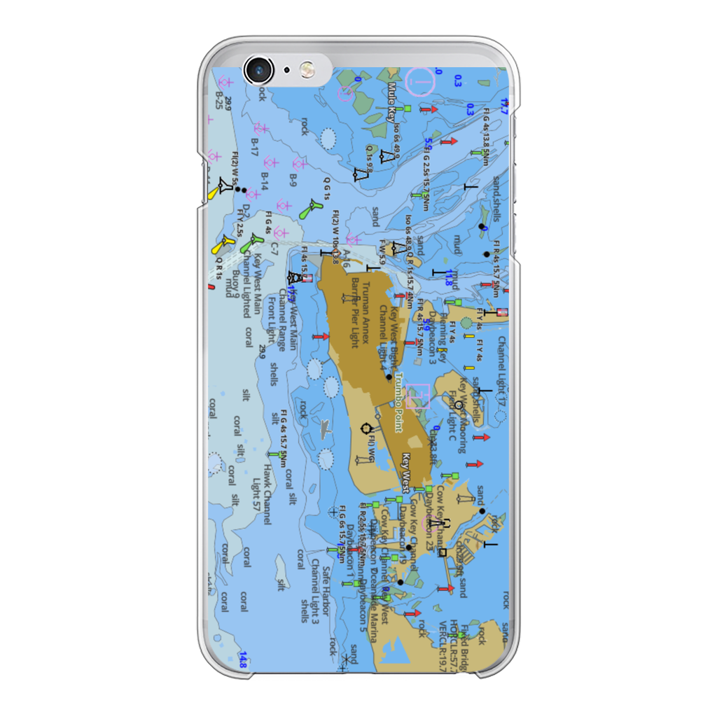 Key West Back Printed Transparent Hard Phone Case