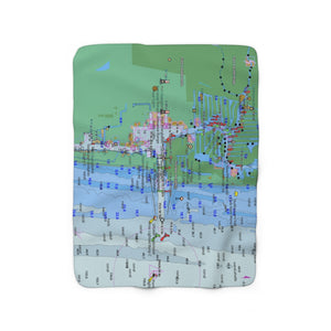 Fort Lauderdale Port Everglades Sherpa Fleece Blanket