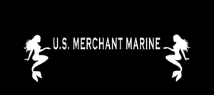U.S. Merchant Marine with sitting mermaids either side