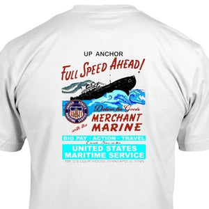 war poster United States Merchant Marine Navy Nautical & Maritime T- Shirt design