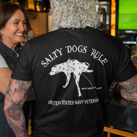 Salty Dogs Rule United States Navy T-Shirt
