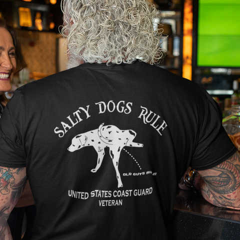 Salty Dogs Rule Coast Guard T-Shirt