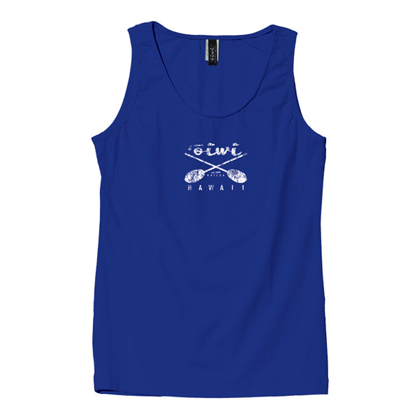 Cross Paddles Wahine UPF 50+ Tank in Royal Blue - 'Ōiwi