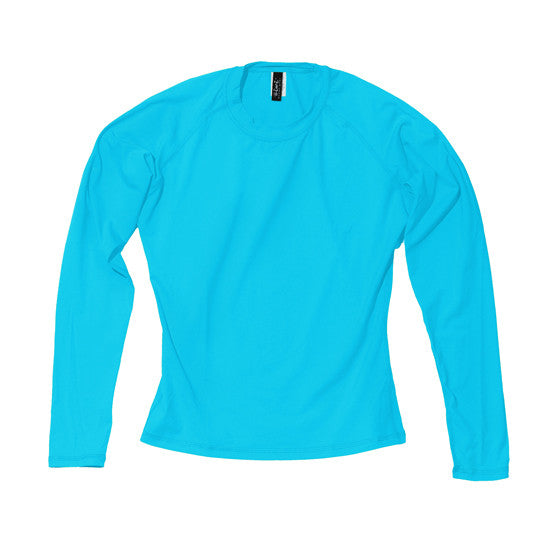 Wahine Long Sleeve UPF 50+ Shirt in Light Blue - Oiwi