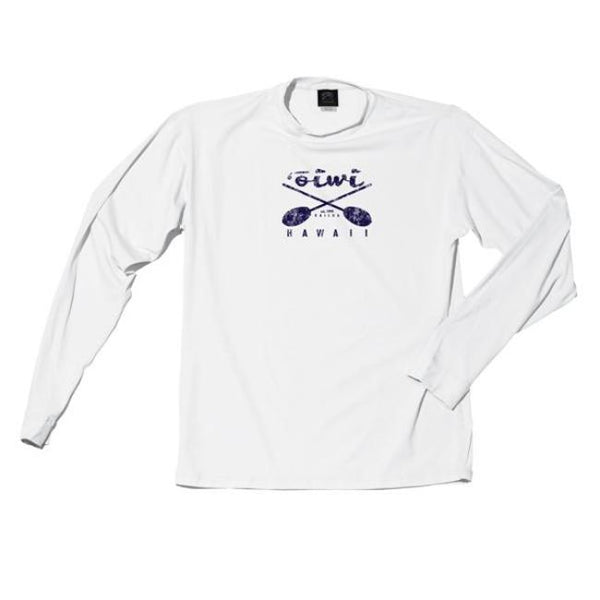 Cross Paddles Long Sleeve UPF 50+ Shirt in White