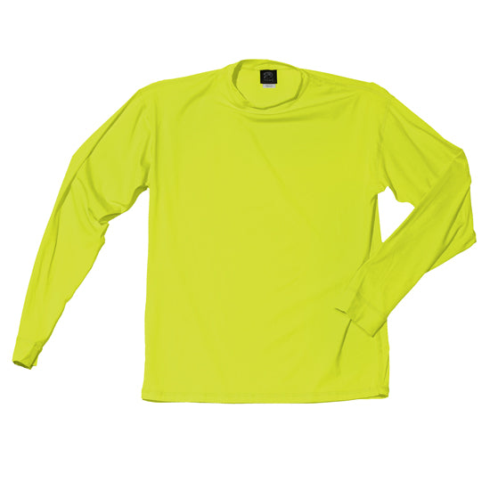 Men's Long Sleeve UPF 50+ Shirt in Safety Green - Oiwi