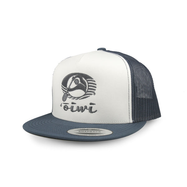 Oiwi Logo Embroidered Flatbill Trucker Hat
