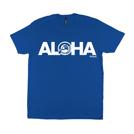 Aloha Kane T-shirt in Royal Blue