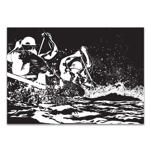 Oiwi Note Card- Canoe Surfing - Oiwi