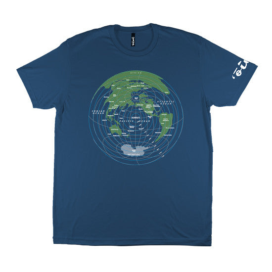 Global Distance T-shirt in Indigo