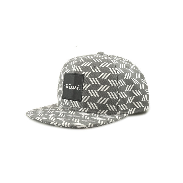 Kapa Grey/White Flat Bill Snapback Hat - Oiwi