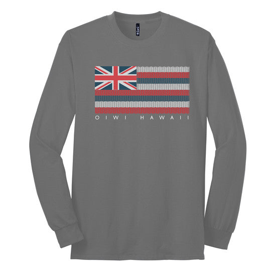 Kākau Hawaiian Flag Long Sleeve T-shirt