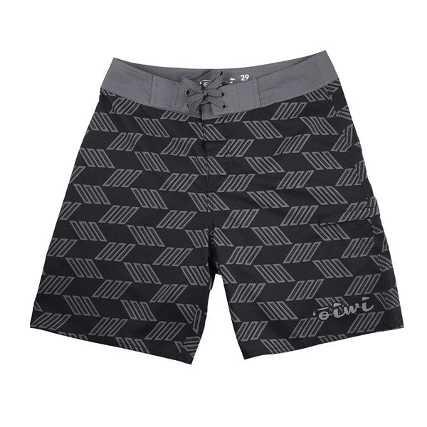 Kapa Kane Black/Grey Board Shorts - Oiwi