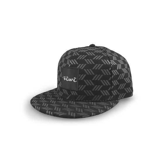 Kapa Black/Grey Flat Bill Snapback Hat