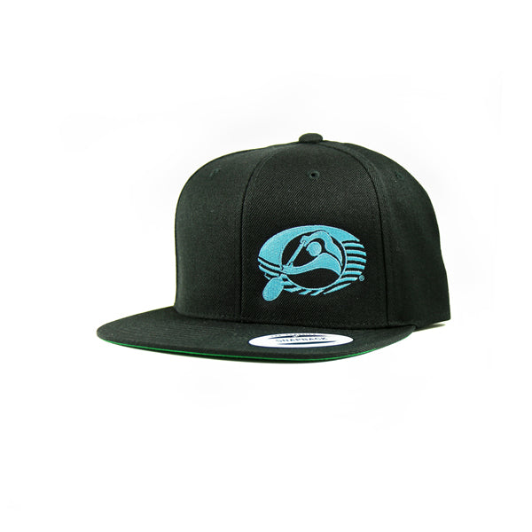 Oiwi Logo Embroidered Flat Bill Snapback Hat