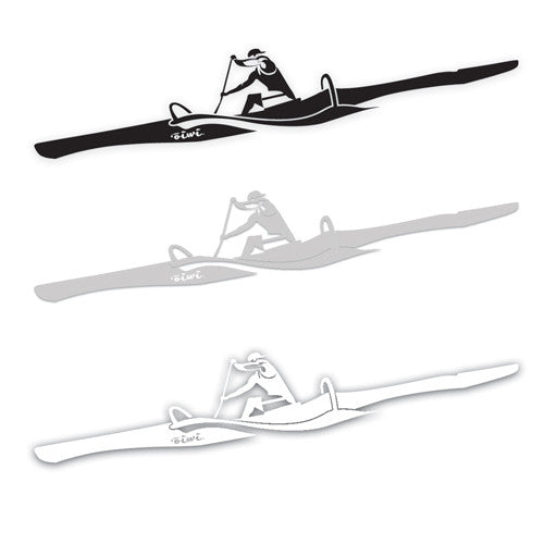 One-man Outrigger Sticker - Oiwi