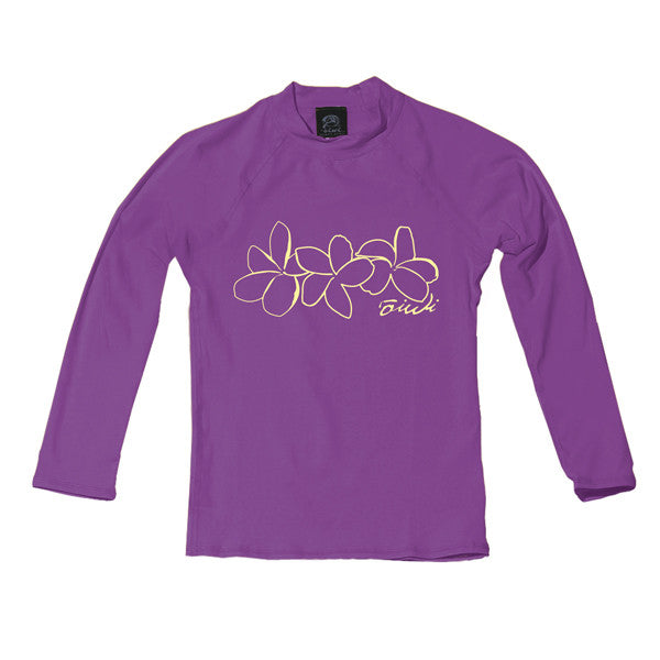 Plumeria Toddler Long Sleeve UPF 50+ Shirt