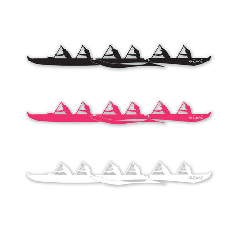 Six-Women Outrigger Sticker - 'Ōiwi