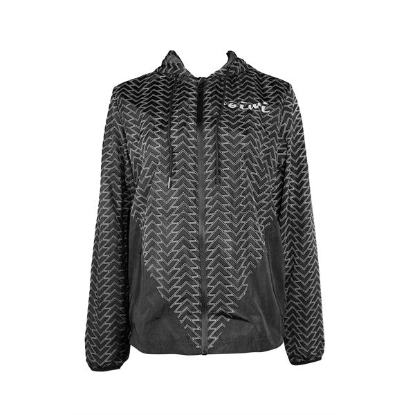 Tattoo Windbreaker Jacket in Black