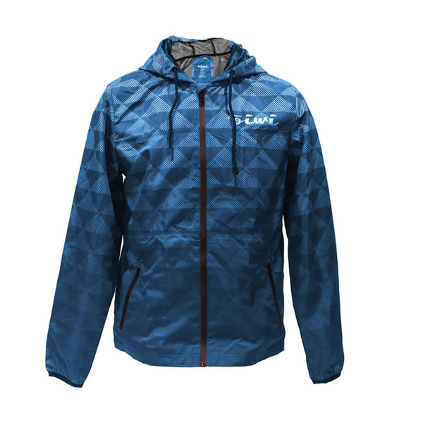 Kakau Windbreaker Jacket in Navy/Light Blue - Oiwi
