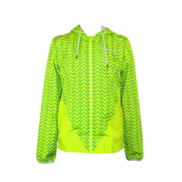 Tattoo Windbreaker Jacket in Bright Green