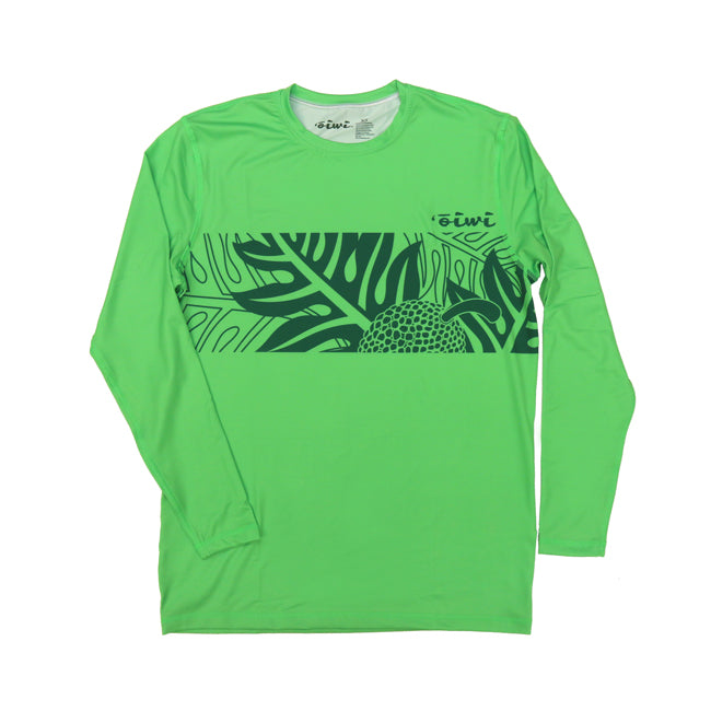 Ulu Long Sleeve UPF 30 Shirt in Green - Oiwi