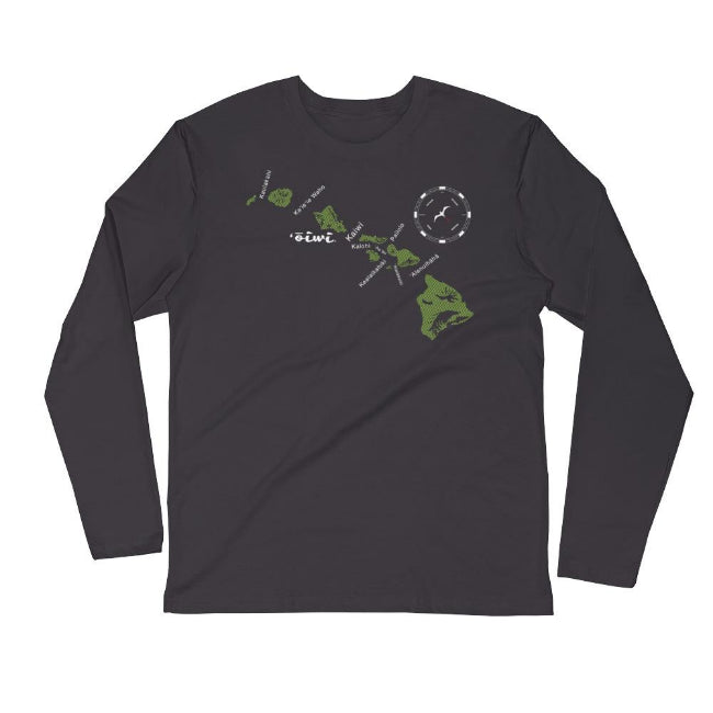 Channels Long Sleeve Crew T-shirt - Oiwi