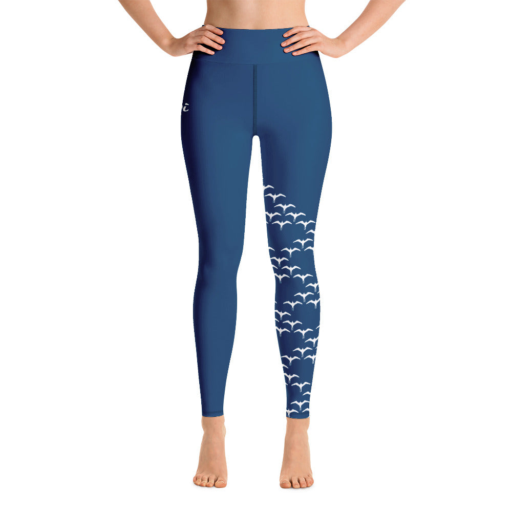 Iwa Birds Full Length Wahine High Waisted Legging - Oiwi