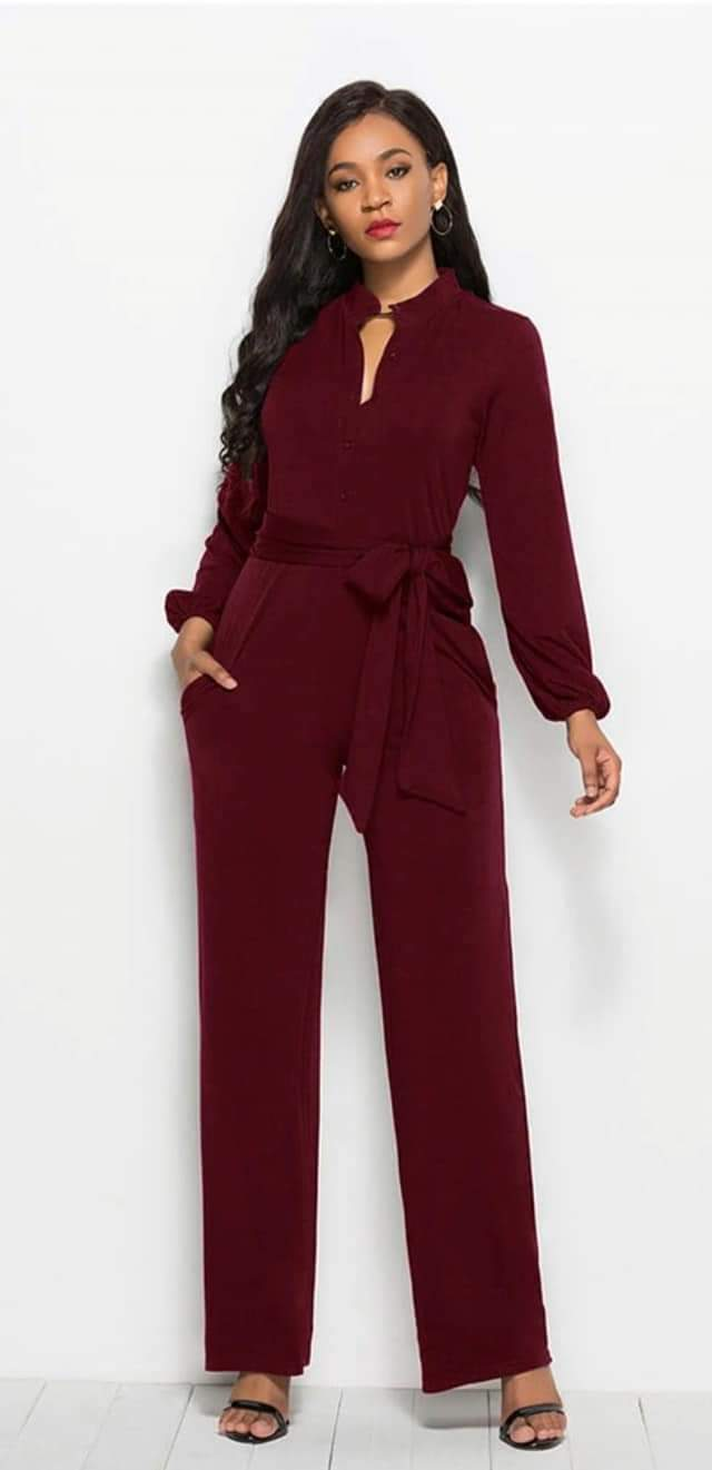 Michelle Obama Inspired Inauguration Wide Leg Jumpsuit