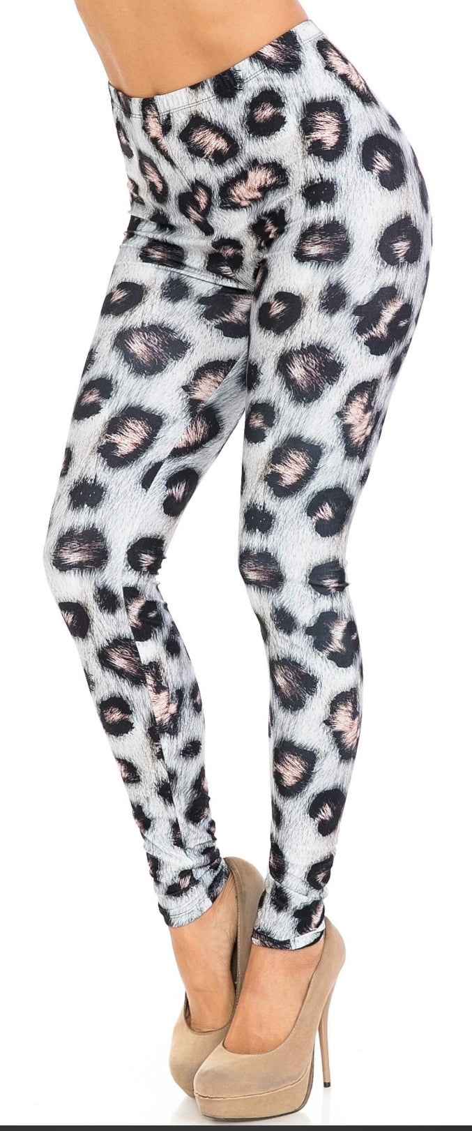 CREAMY SOFT MODA LEOPARD LEGGINGS