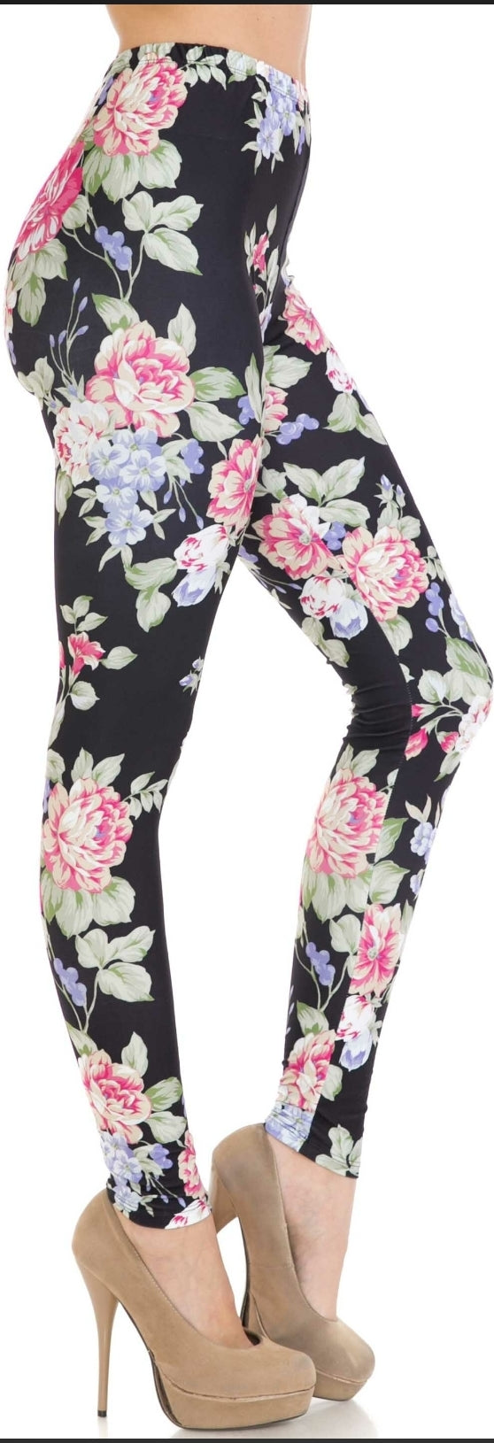 CREAMY SOFT DELIGHTFUL ROSE LEGGINGS