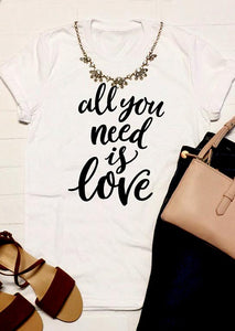 All You Need Is Love T-Shirt - Inspiration Tee Shirt