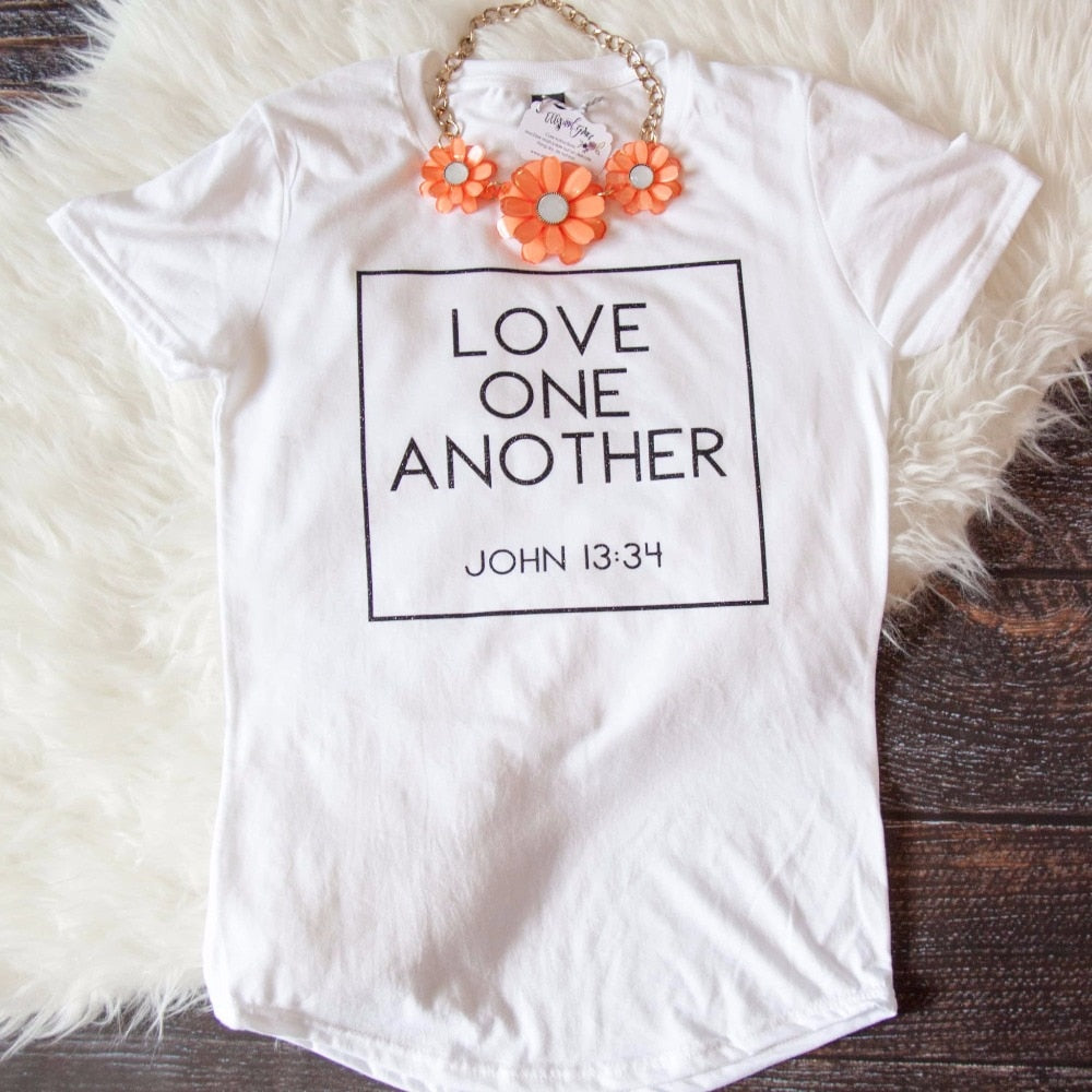 Love One Another Triblend Christian Tee Shirt