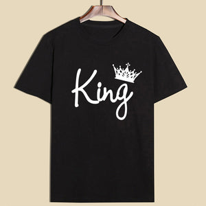His & Her King And Queen Matching Couple T-shirts