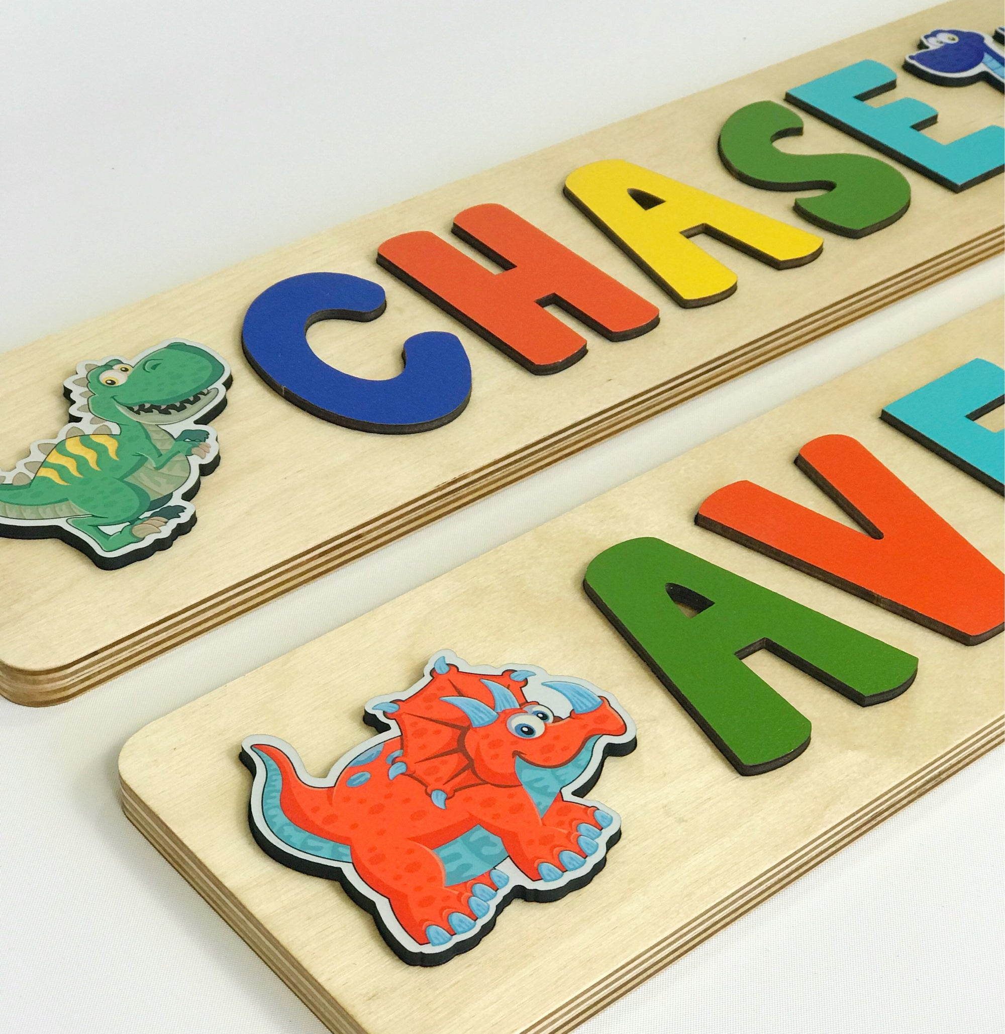 Dinosaur Name Puzzle, Dinosaur First Birthday Gift for Boy