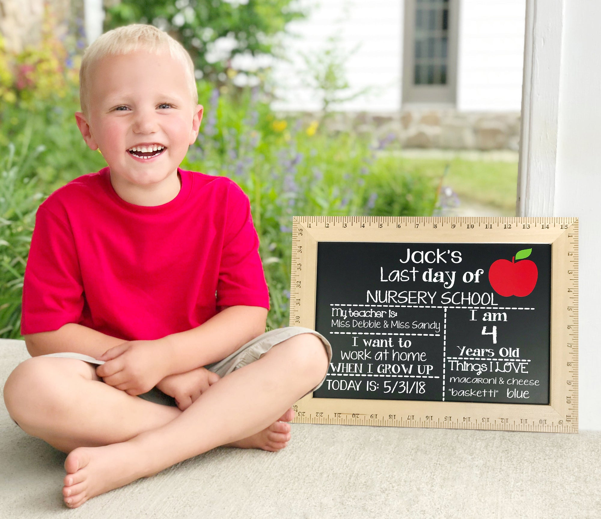 First Day of School Chalkboard,  Reusable First Day of School Chalkboard, First Day of School Sign Ruler, Back to School Sign, Ruler Sign