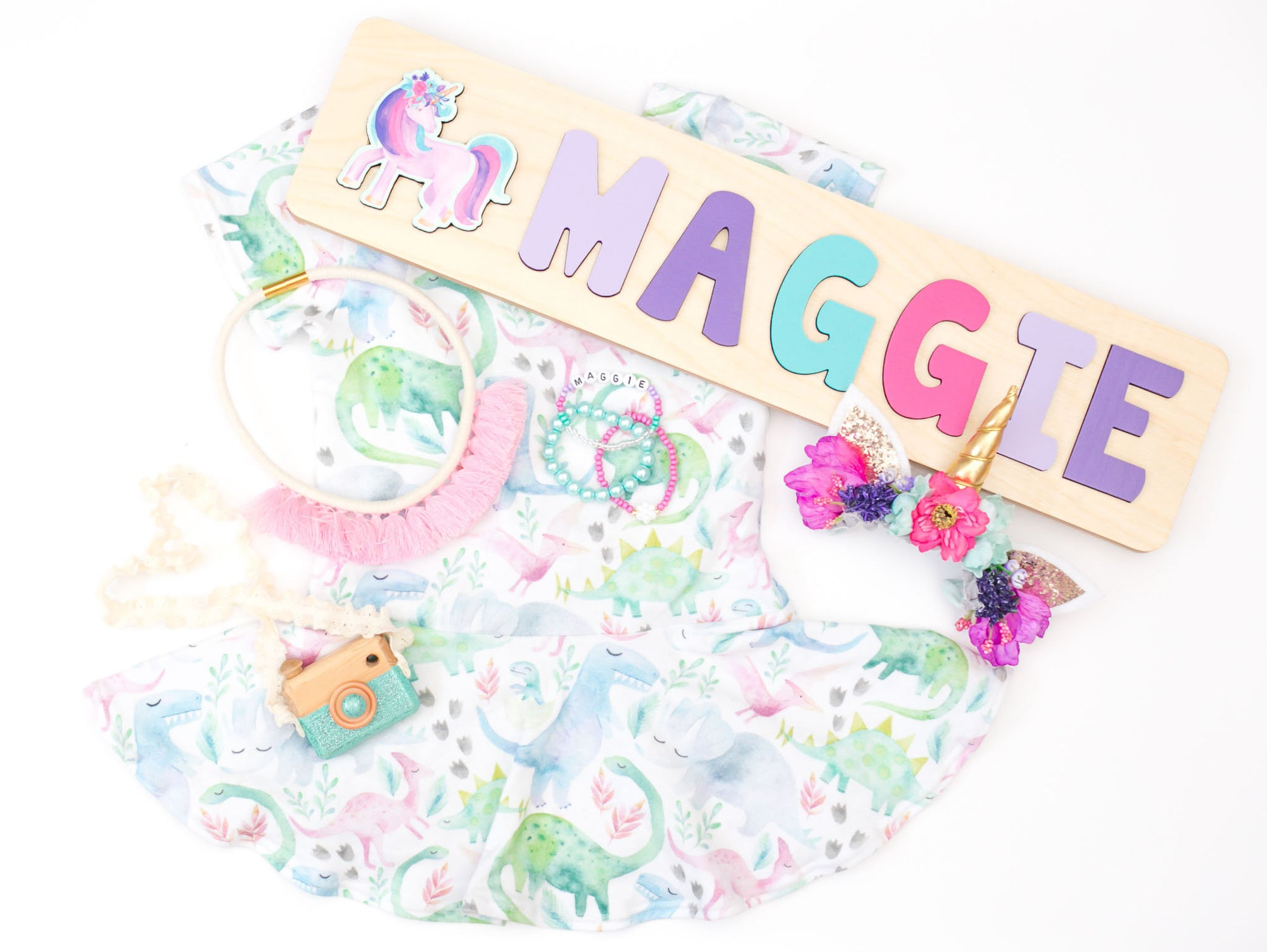 Unicorn Name Puzzle, Gift for Girl, Personalized Puzzle Wood Toy