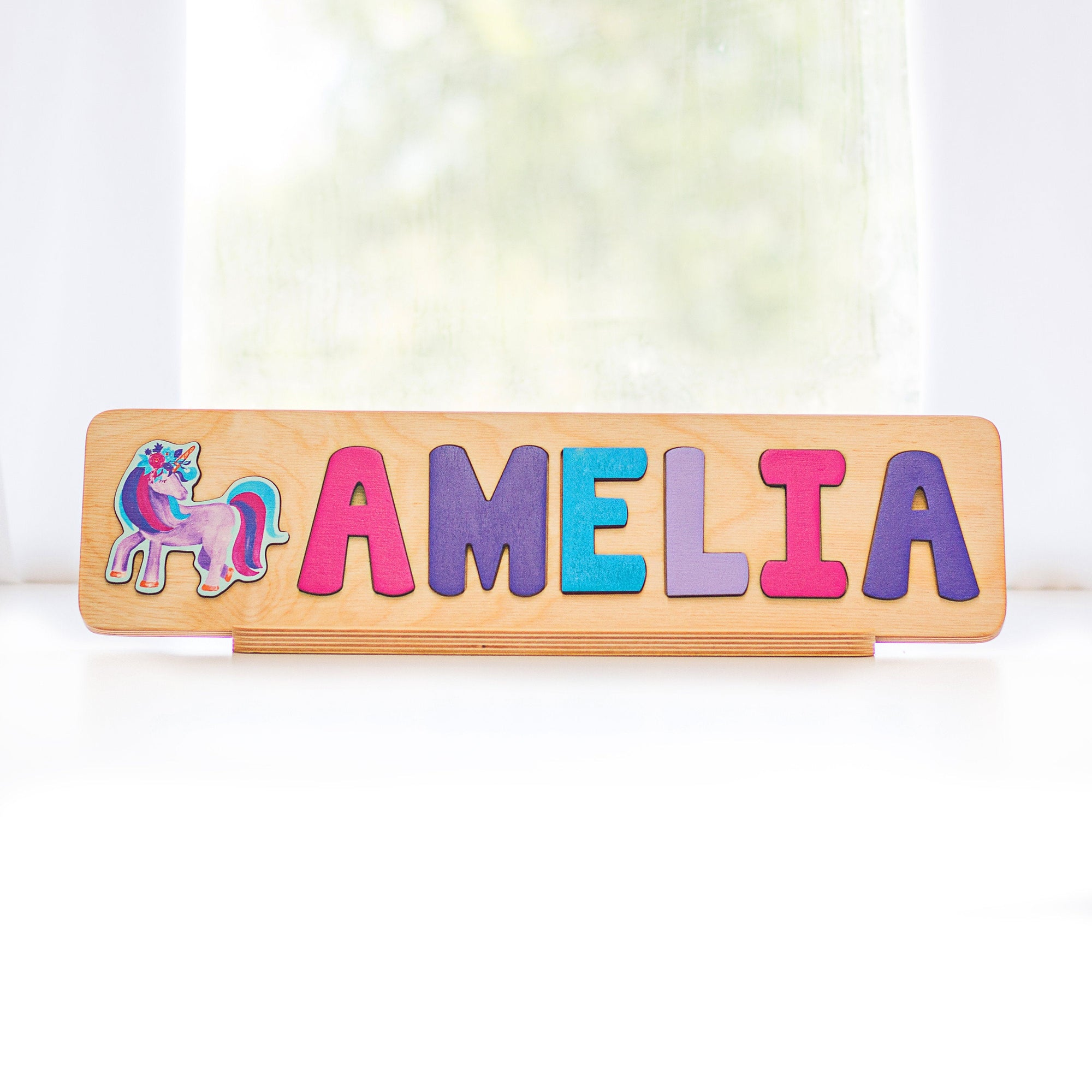 Unicorn Name Puzzle, Unicorn Party Decor Gift for Girl, Gift for Girl