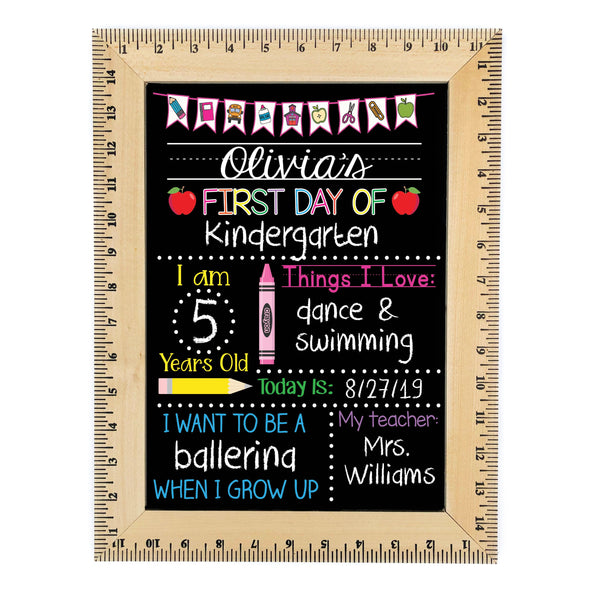 Reusable Back to School Chalkboard back to school chalkboard Chalkboard with Blanks first day chalkboard First Day of School sign