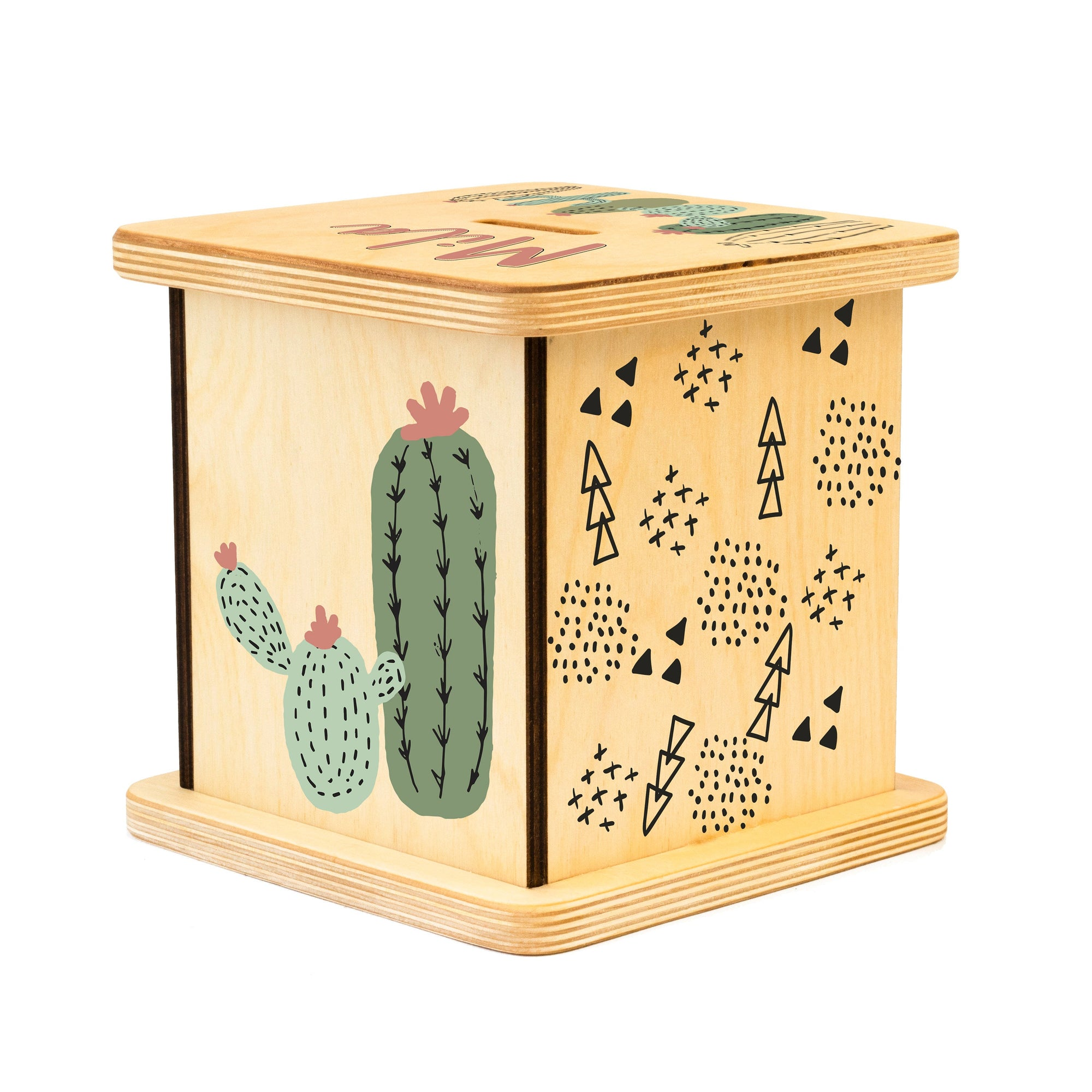 Cactus Piggy Bank, Nursery Decor, New Baby Gift, Coin Bank, Gender Neutral