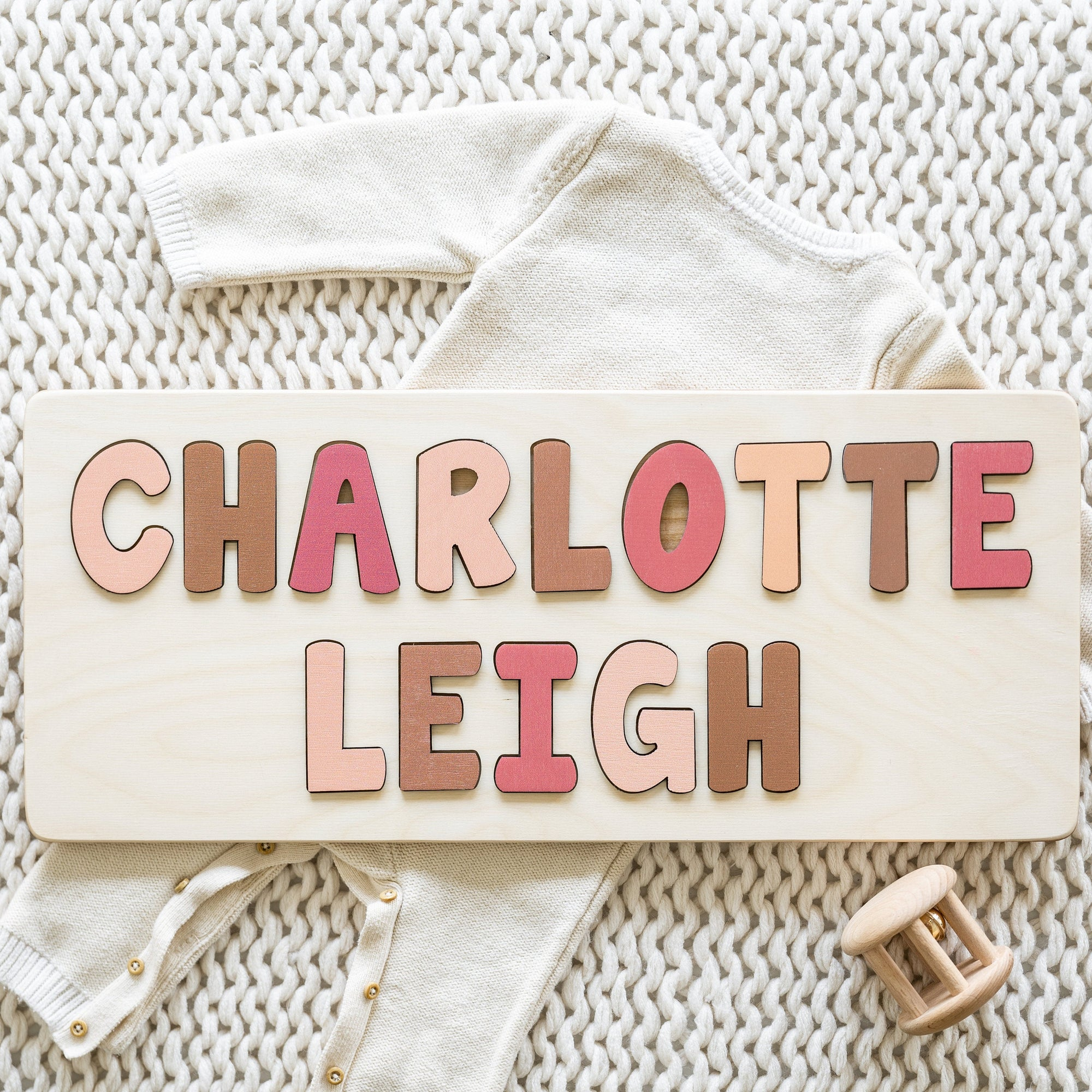 Wooden Name Puzzle, Christmas Gift for Kids, Personalized Gifts, First Birthday Gift